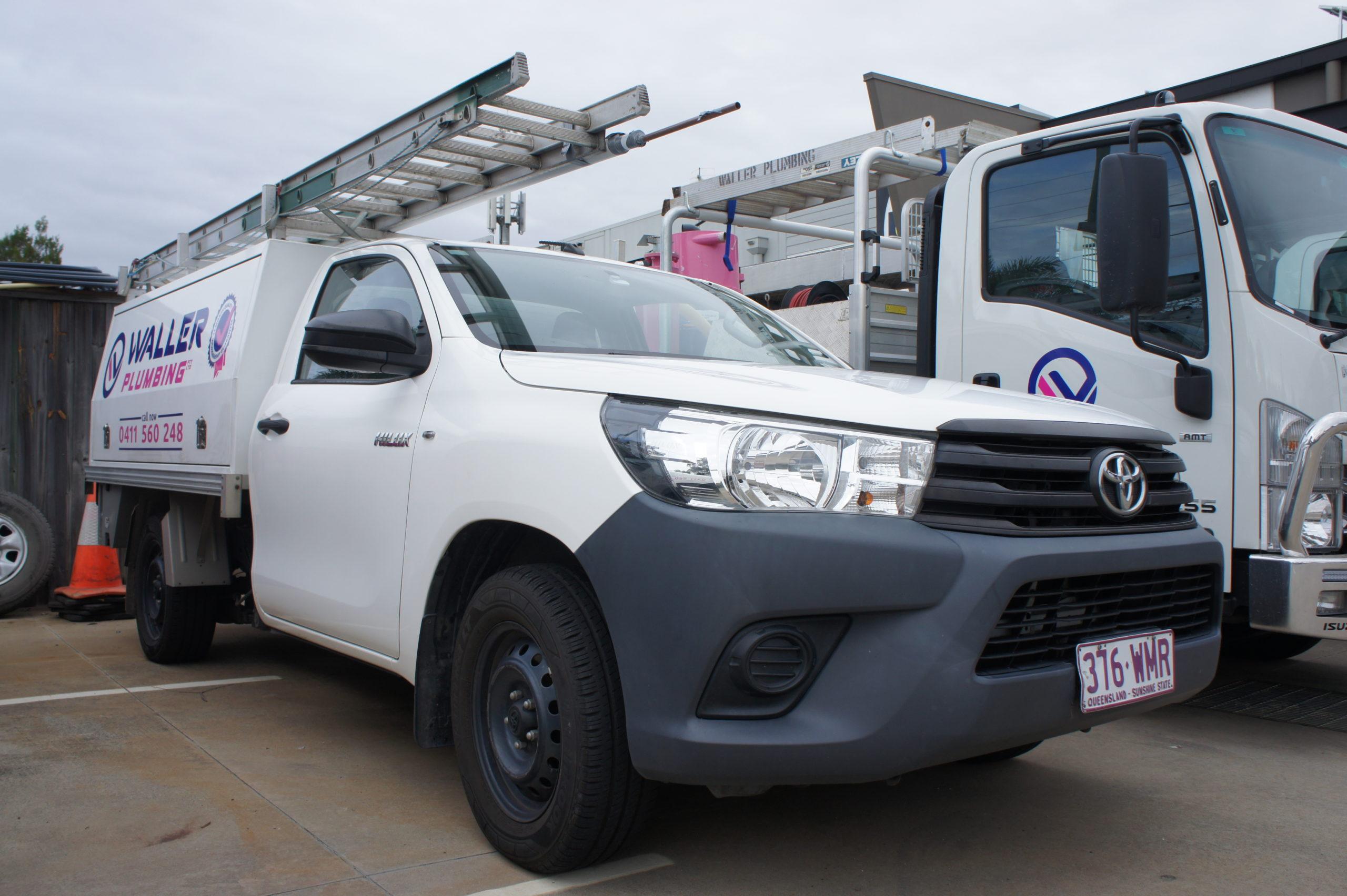 Waller Plumbing Brisbane service vehicles